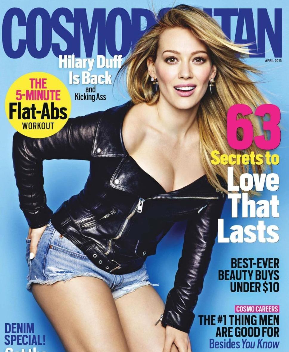 Hilary Duff on cosmopolitan 2015 cover